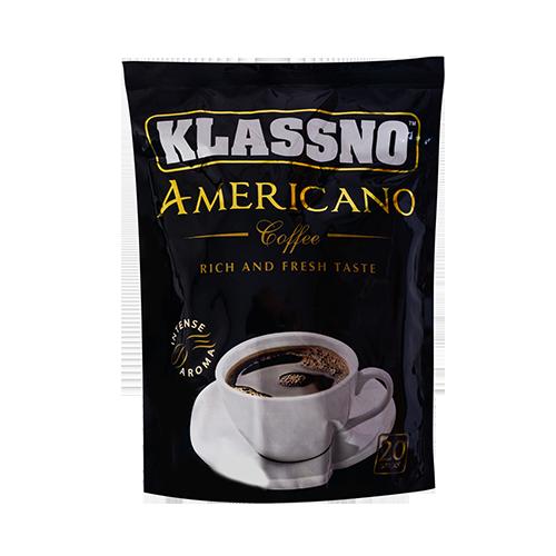 قهوه آمریکانو کلاسنو Klassno Americano بسته 20 عددی